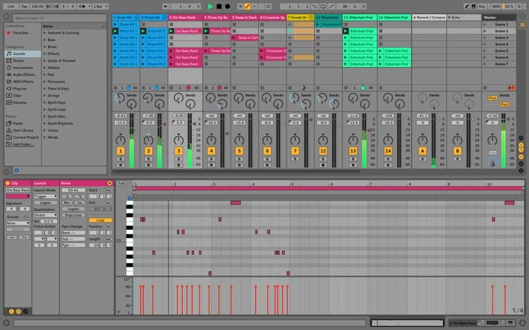 Multi-Clip Construction In Ableton Live 10