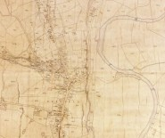 D1473/50/1a Enlargement of the Duffield tithe map of 1842, showing the village centre and bend of the River Derwent
