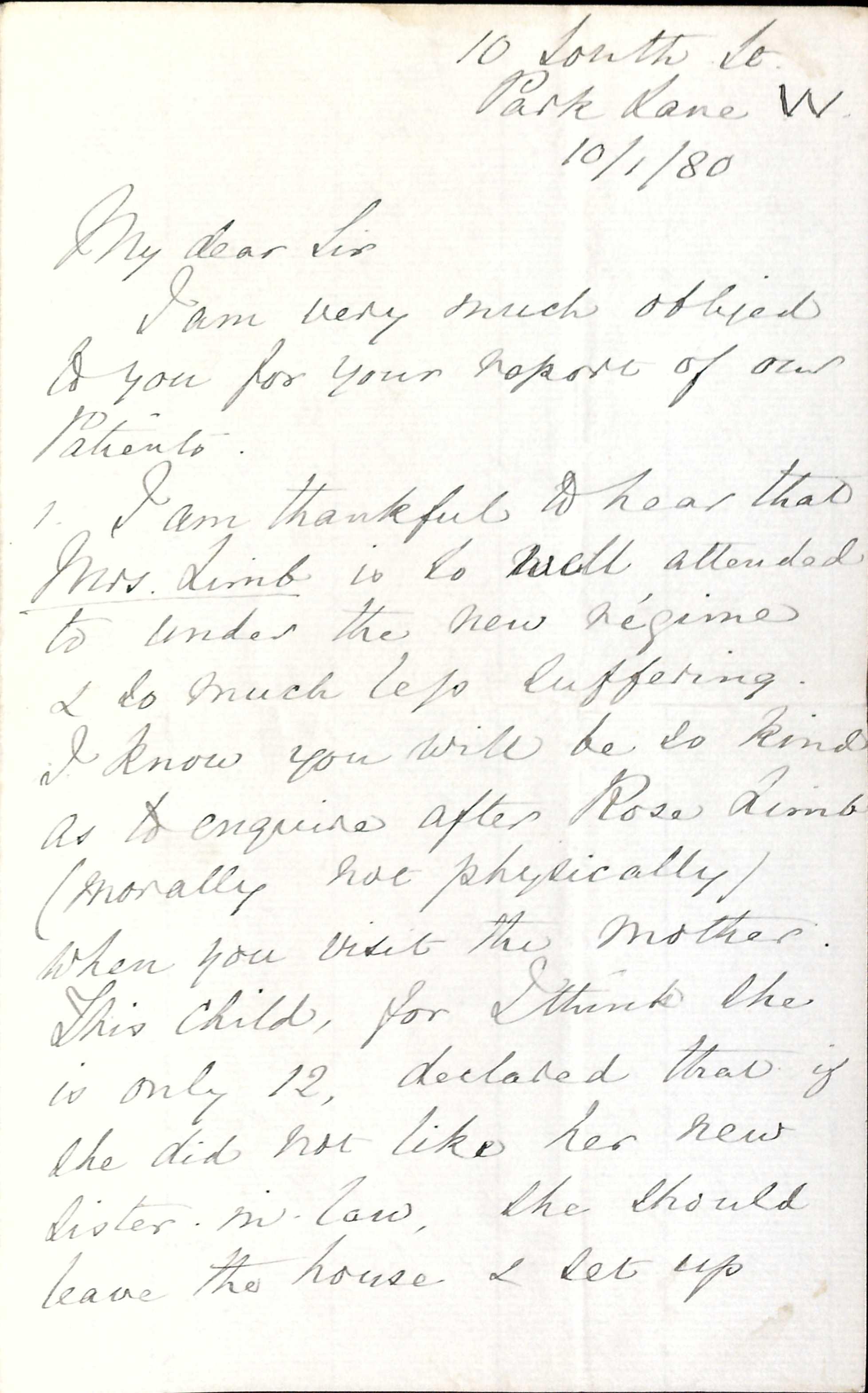 Treasure 39: Florence Nightingale's letters to C B N Dunn