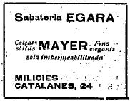 Sabateria Egara 1936