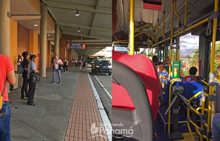 Metrobus stop at Albrook Terminal