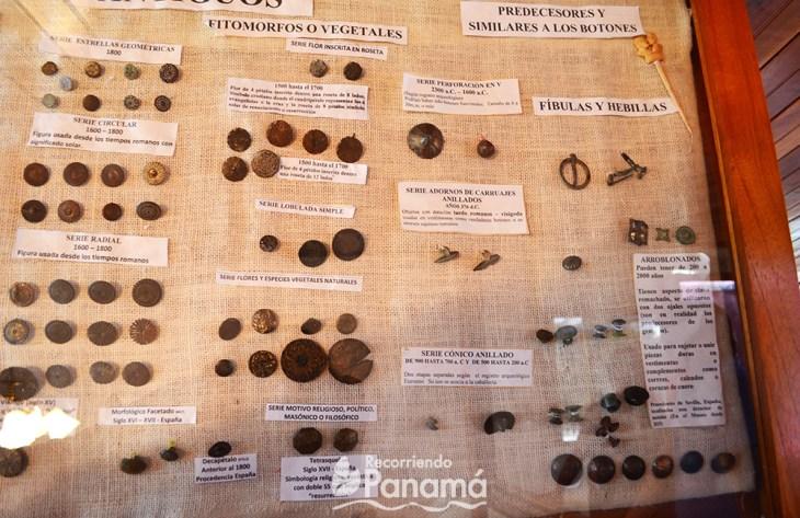 Antique buttons at Botones Museum