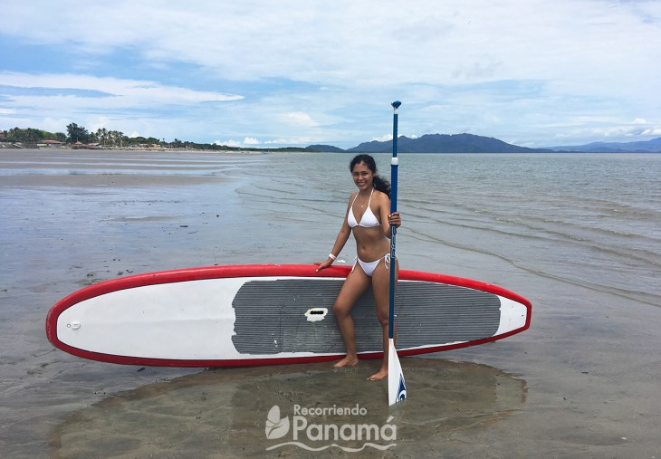 Stand-up paddling.