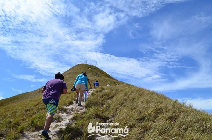 Reaching the top of La Silla hill