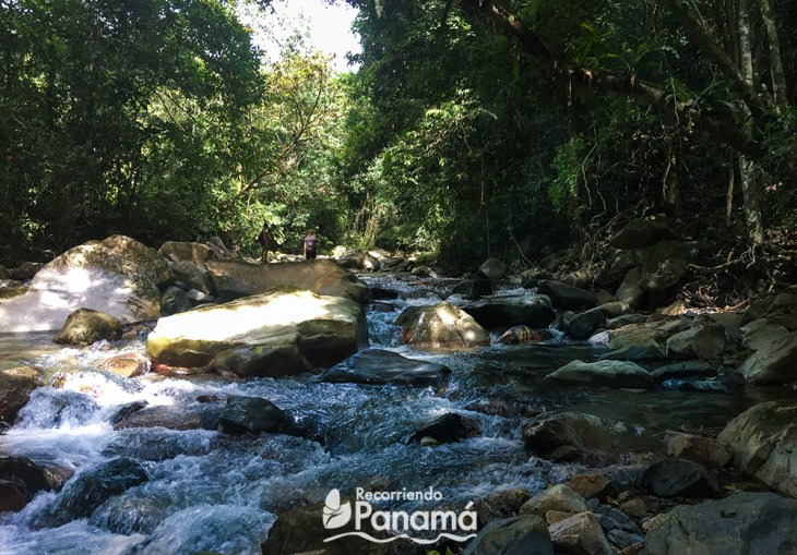 Caminando a travez del Río Iguana hacia la Cascada Jaguar