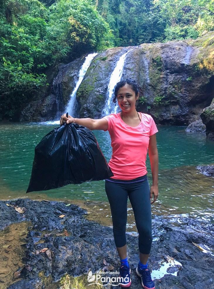 Adventure bag. El Jiral Waterfall