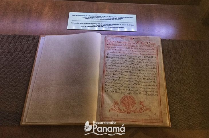 Acta de Consagración de la Catedral de Panamá. Museo de La Merced