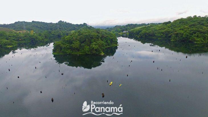 Foto aerea del Lago Gatún.