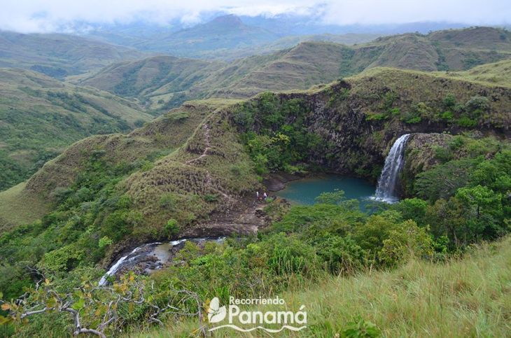 Las Damas Waterfall, view from above