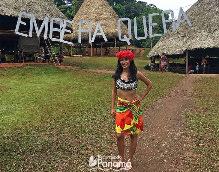 Emberá Querá  Community in Colón province