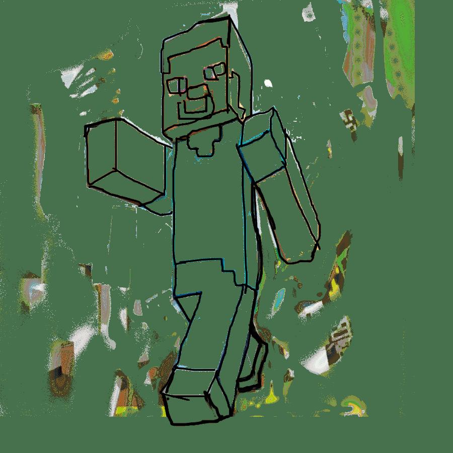 как нарисовать человека из майнкрафта #6