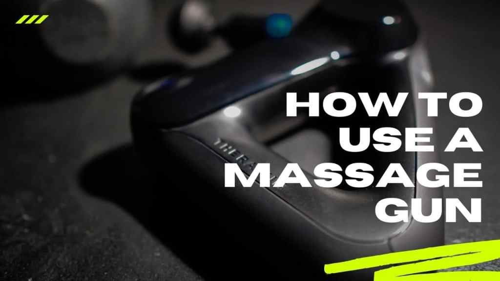 how to use a massage gun