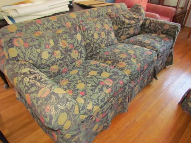 children's sofa before custom upholstery
