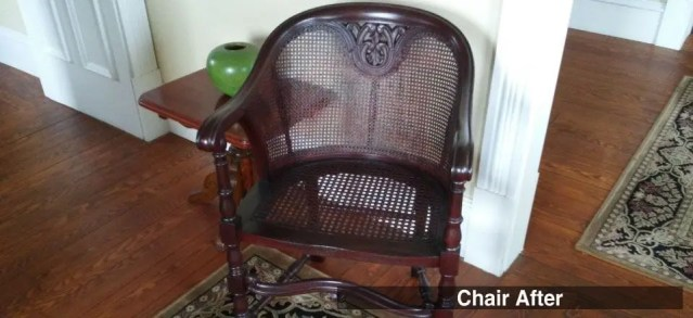 Antique Cane Chair - AFTER