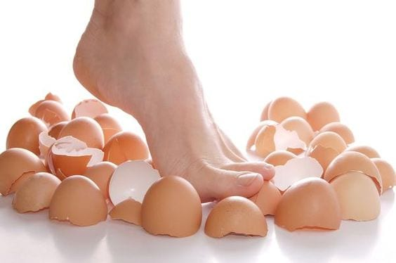 Image result for walk on eggshells