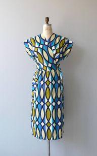 Midcentury Wrap Dress via Dear Golden on Etsy