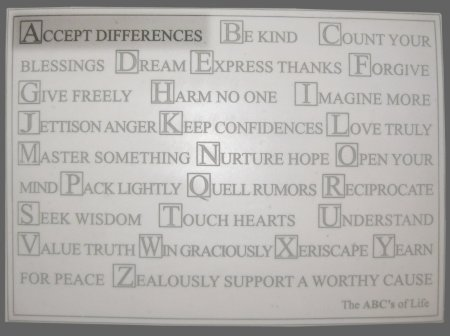 ABC's of Life - Accept Differences