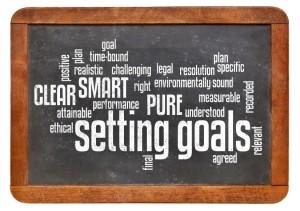 setting goals word cloud on blackboard