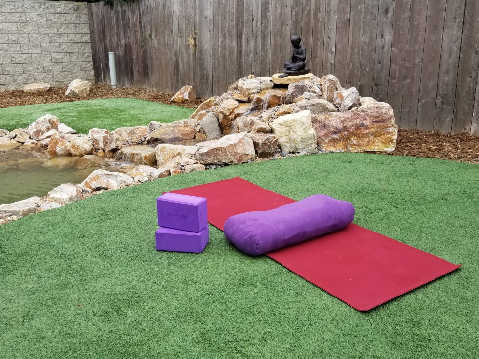 First Yoga in new Backyard
