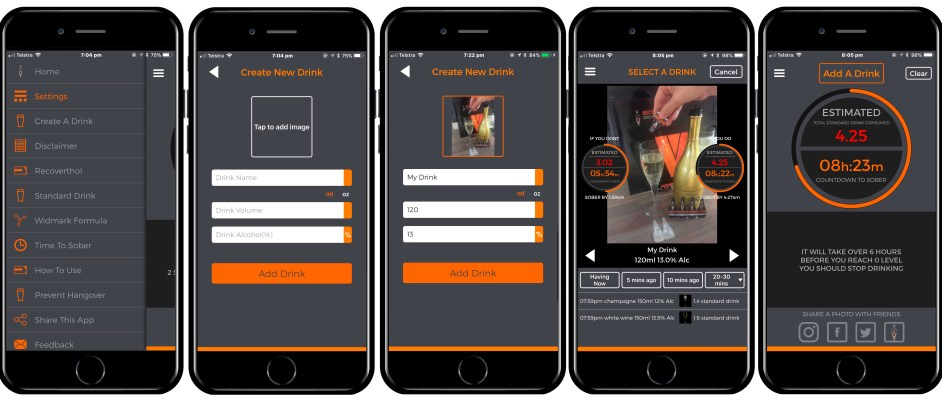 responsible drinking with Recoverthol App