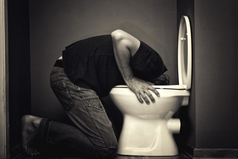 What does a hangover feel like - Vomiting