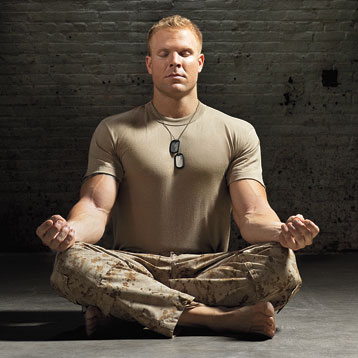 PTSD Veterans and Meditation on justruminating men's blog
