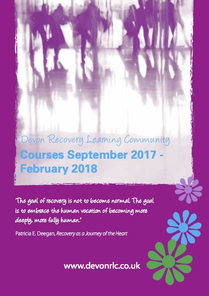 Devon Recovery Learning Community Courses for Autumn 2017 Announced