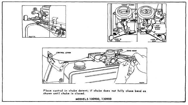 REMOVAL AND INSTALLATION OF GOVERNOR SPRING ON MODEL