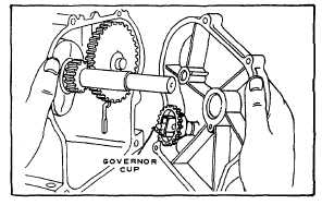 Fig. 17. Showing Governor Shaft in Proper Position
