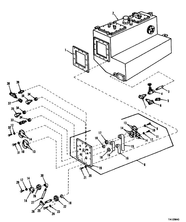 Figure 3-25. Front cover assembly and attaching parts
