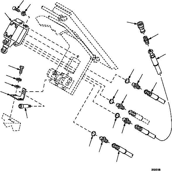 Figure 287. Level Winder Spindle and Related Parts