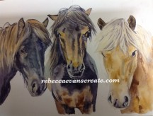'A stable relationship' watercolour 30x40 cm 200lb cold press