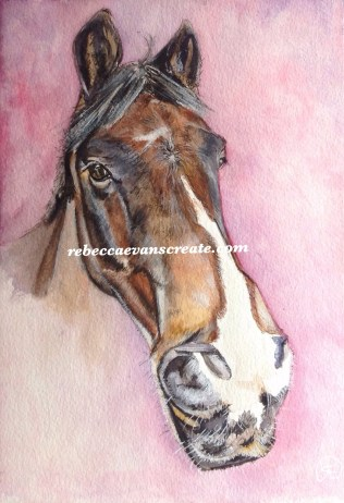 "'Chilling' watercolour 10x7"" 140 lb coldpress fortune centre pony William"