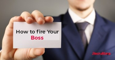 How to fire your boss.