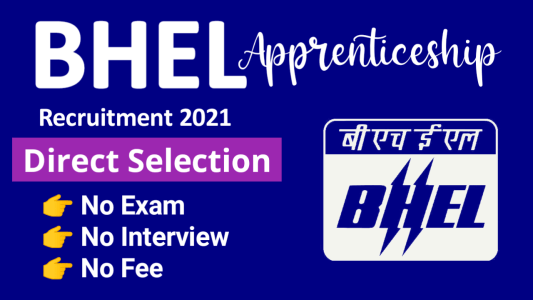 BHEL Haridwar Apprentice Recruitment 2021