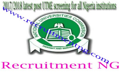 2017/2018 Cut Off Marks For All Nigerian Universities/Polytechnics For Admissions Screening (Post-UTME)