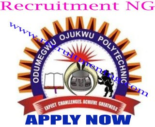 2017/2018 Polytechnic Forms for ND & HND at Odumegwu Ojukwu Polytechnic is Out