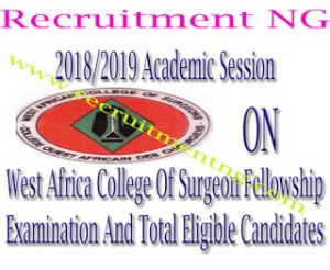 1,477 Names Releases At West Africa College Of Surgeon Fellowship Examination