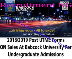 Babcock University ADMISSIONS Examination Centers for 2018/2019 ACADEMIC SESSION