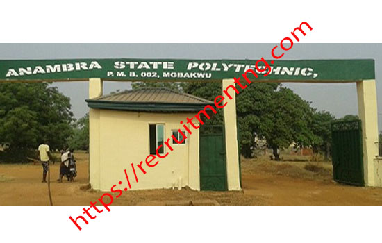Anambra State Polytechnic Admission Application