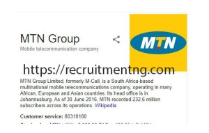 Internship MTN CEM Program at MTN