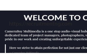 CameraBoy Multimedia Job Vacancies (5 Positions)