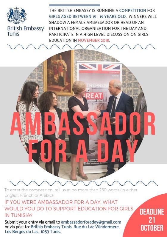 ambassadrice pour un jour
