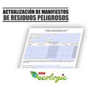 ACTUALIZACIÓN DE MANIFIESTOS DE RESIDUOS PELIGROSOS | 2018