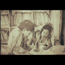 children_reading_drawing