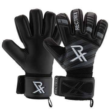 Rectrix 1.0 Goalkeeping Gloves (With Free Zip Case) - Blackout