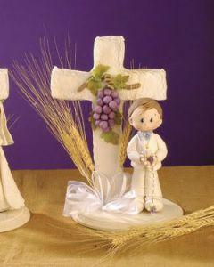 Recuerdos comunión niño elegante porcelana