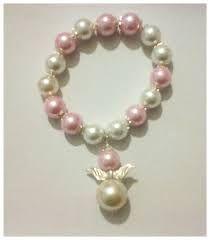 Recuerdos de Bautizo niña escapulario perlas elegante