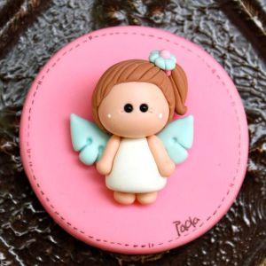 Recuerdos de Bautizo niña migajon masaflexible bebe rosa
