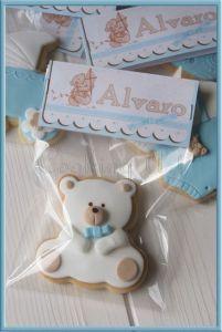 Recuerdos de Bautizo para niño oso elegante foamy